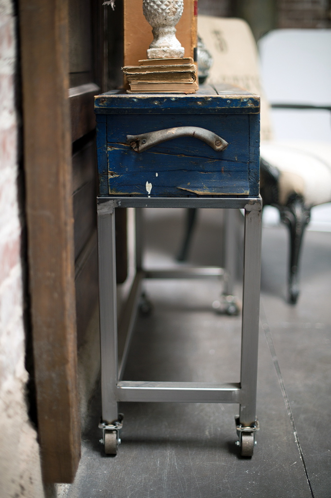 Blue Tool Box Cart