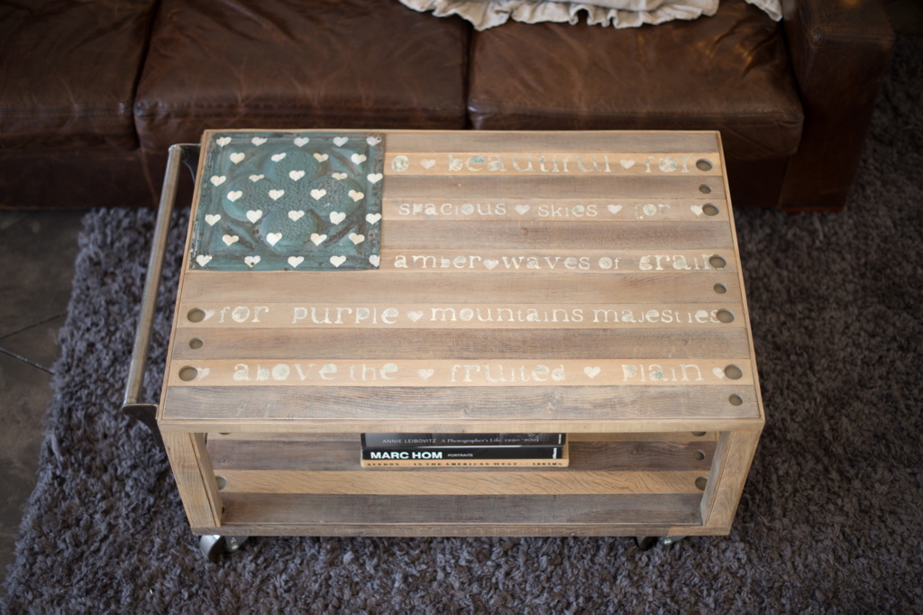 America the Beautiful Cocktail Table